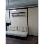 Кровать встроенная  с диваном