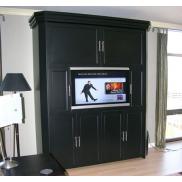 Шкаф-кровать + ТВ/камин Леонардо