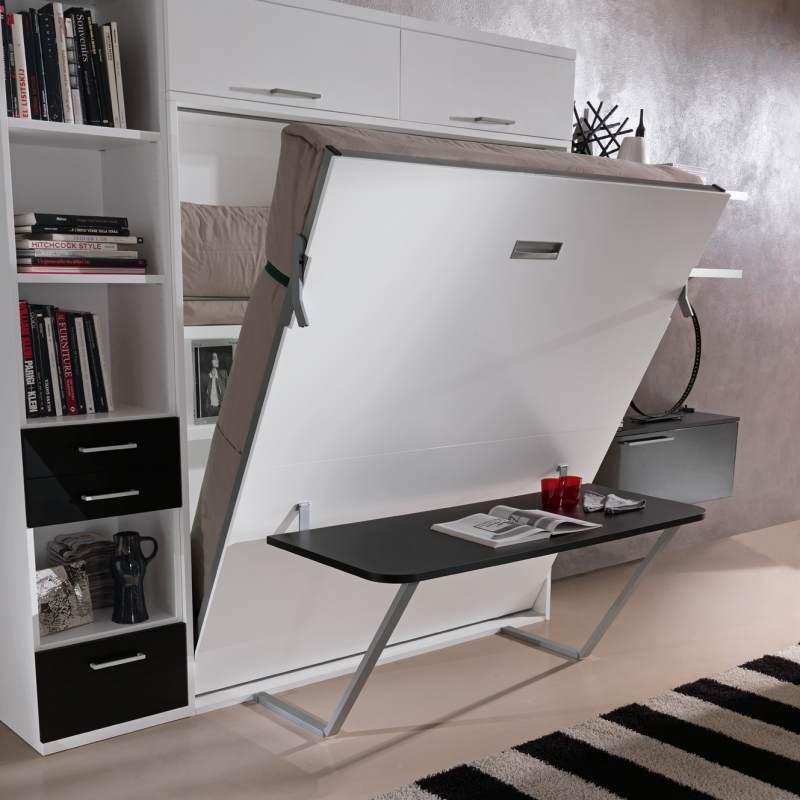 подъемная кровать шкаф со столом изабелла купить в москве
