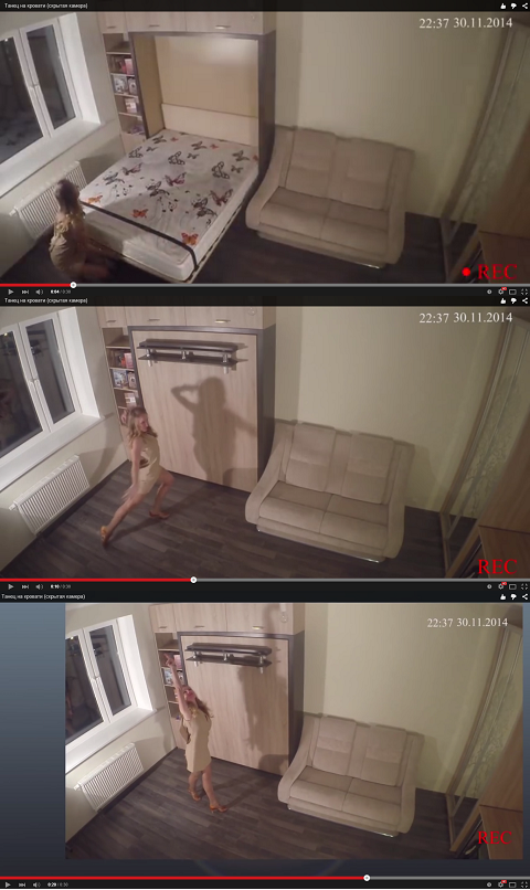 Танец-на-месте-шкаф-диван-кровати-трансформера-3-в-1-фото-видео
