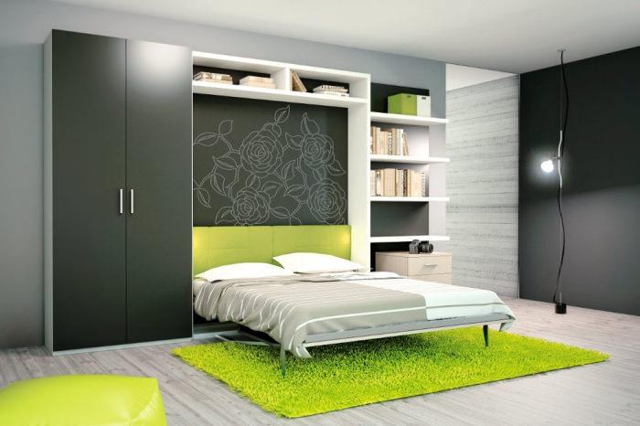 шкаф кровать стол  трансформер 3 в 1 в малогабаритной квартире